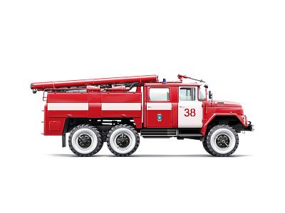 Fire Truck Illustration  illustration car vehicle russia firefighter fire truck