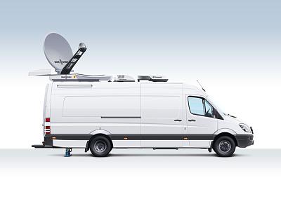 Mobile TV-stations Illustration  illustration tv car tv-station vehicle mobile station