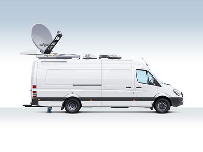 Mobile TV-stations Illustration