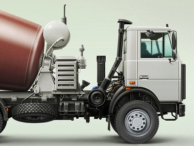 Russian Truck illustration techdesign