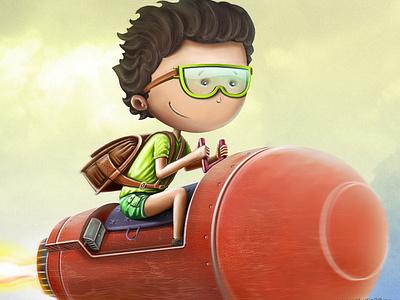Crazy boy illustration character
