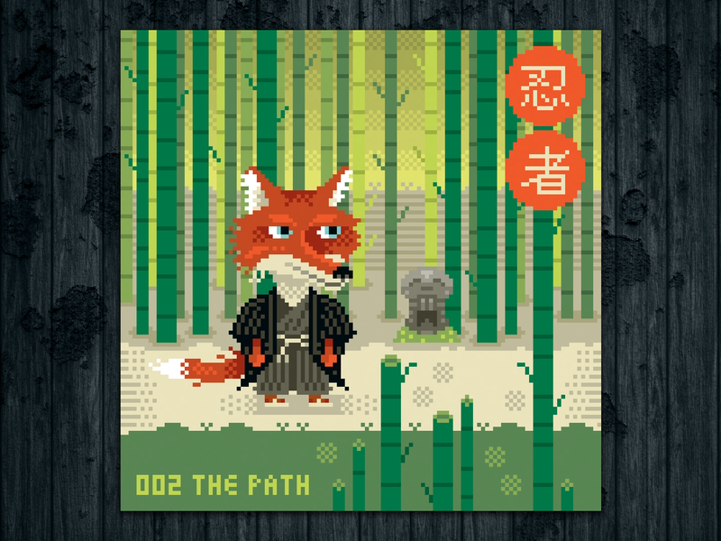 Ninja Project Day 002 The Path By Laurent Bazart On Dribbble