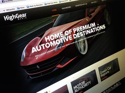 HighGearMedia.com Redesign