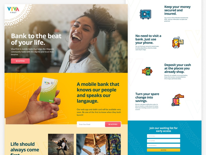 Banking Landing Page design web design banking app banking bank