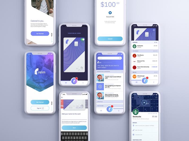 Relm Banking App mobile app mobile banking app banking ios