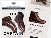 Thursday Boot Co. Marketing Email