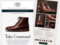 Thursday Boot Co. Marketing Email V2