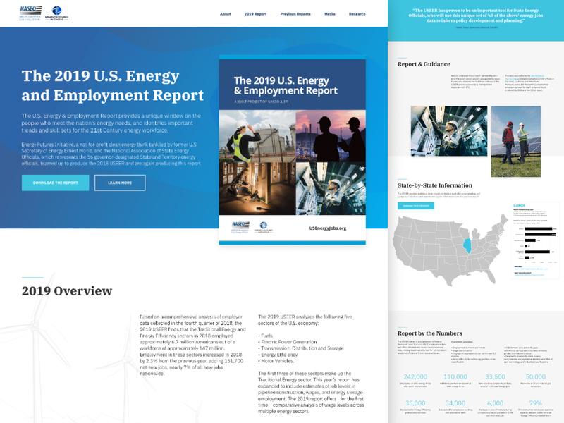U.S. Energy Jobs Website web design website energy naseo efi