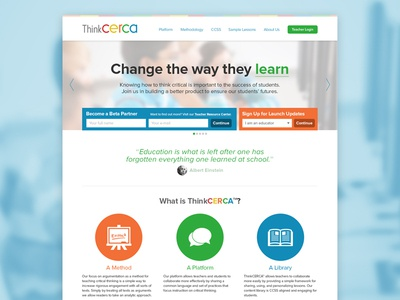 ThinkCERCA Redesign
