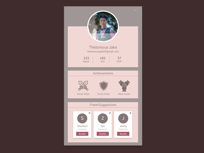 Daily UI 006 :: User Profile