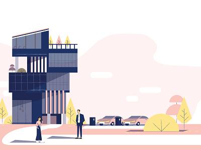 Smart Building Illustration presentation vector design illustation