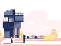 Smart Building Illustration