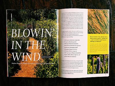 The Bridge Editorial Spread oklahoma garden oklahoma city type layout botanical botanical garden magazine layout editorial design editorial