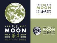 Full Moon Ride Run Logo oklahoma oklahoma city full moon ride full moon logo botanical garden event bike ride moon