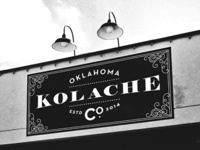 Oklahoma Kolache Co. Horizontal Signage