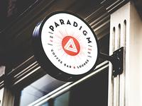 Paradigm Coffee Bar & Lounge Signage