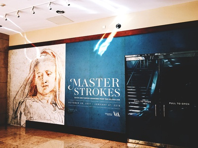 Master Strokes Title Wall