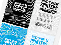 Winter Break Printers' Workshop Postcard