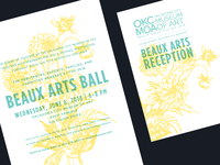 Beaux Arts Reception Invite/Envelope