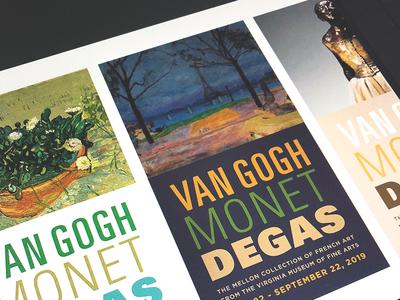 Van Gogh, Monet, Degas (Concept)