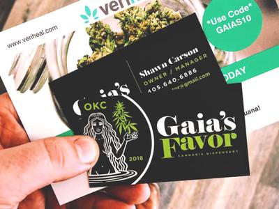 Gaia's Favor Cannabis Dispensary (Business Cards)