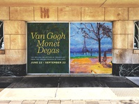 Van Gogh, Monet, Degas (Window Display)