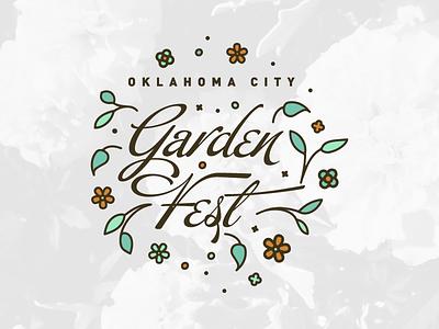 OKC Garden Fest (Logo Concept) event branding myriad botanical gardens oklahoma city okc logo botanical garden festival garden