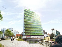 Design for a Hybrid Farm / Apartment Building at the High Line