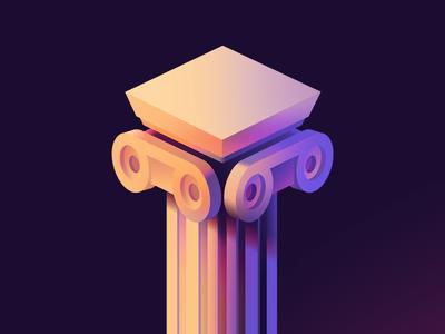 Pillar visual design illustration greek roman pillar