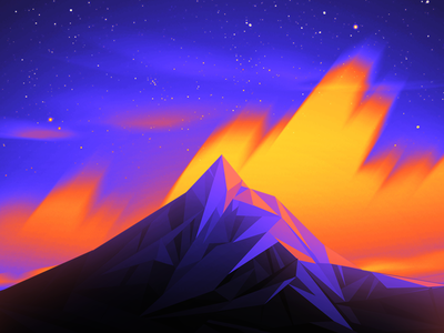 Robbie Daymond - Visuals illustration landscape poly low poly mountain visual design