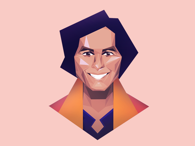 Robbie Daymond Portrait poly illustration geometric low poly portrait face design character origami