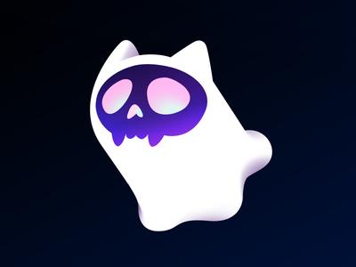 catghost.shop skull icon logo shop catghost