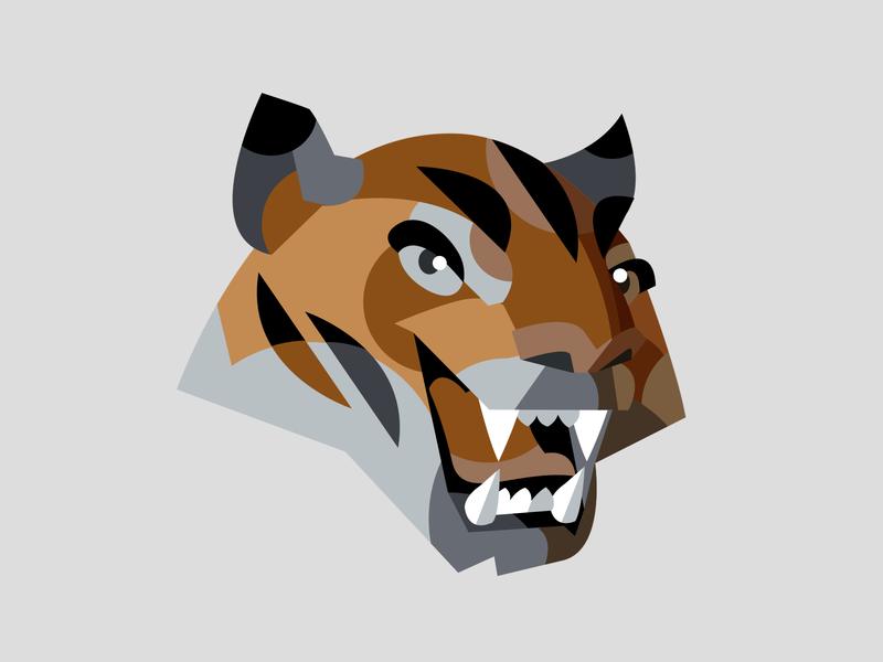 Tiger logo animal icon illustration tiger