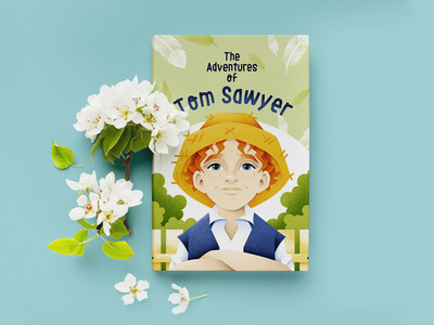 Tom Sawyer tom sawyer characters cover book cover design book child grain texture vector design texture illustration grit