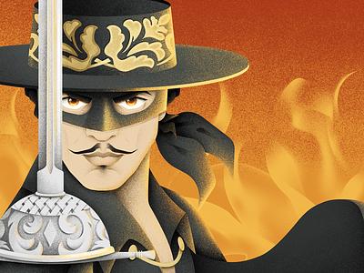 The Legend of Zorro zorro character human grain texture vector design texture illustration grit