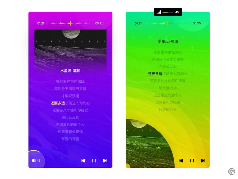 Daily UI 09-Music Play app ui design
