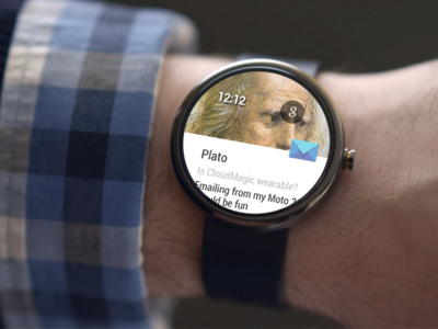 CloudMagic Mail - Android Wear android wear moto 360 mocks