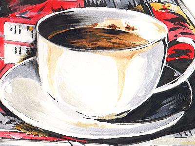 Penxa Airport illustration sketchbook still life coffee beverage caffeine sketch airport moleskine
