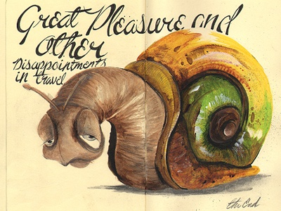 Disappointment In Travel illustration sketchbook insect snail moleskine