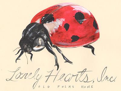 Lonely Hearts Old Folks Home illustration sketchbook insect ladybug moleskine