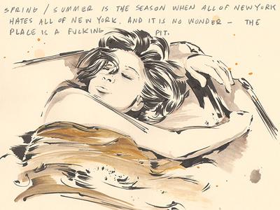 New York illustration sketchbook dream girl still life nyc new york