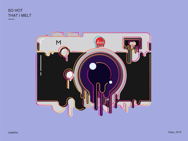 So hot that i melt_Camera global warming camera leica vector design idea illustration