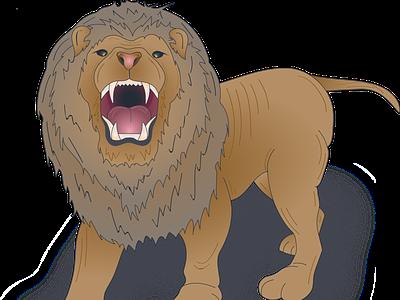 Lion lion head detailed illustrator wild animal lion vector logo illustration design character art