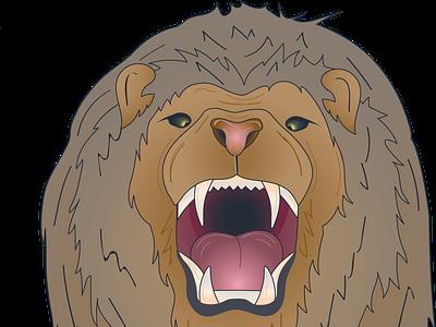 Lion head only vector minimal lion head lion character detailed illustrator branding logo animal illustration design art