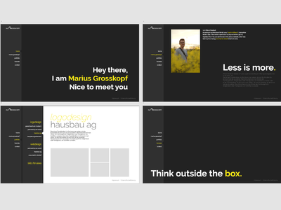 Designer Portfolio yellow black  white black branding art ux typography website web portfolio designer design ui design ui ux designer ux ui design ux-ui