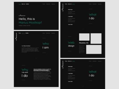 Designer Portfolio branding typography minimal green black  white portfolio designer design ux design mockup design mockup bundle screendesign ux ui design ux designer ux-design ux-ui ui ux