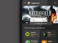 Amazon Appstore Homescreen