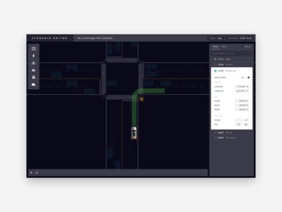 Uber Scenario Editor for Autonomous Vehicle Testings