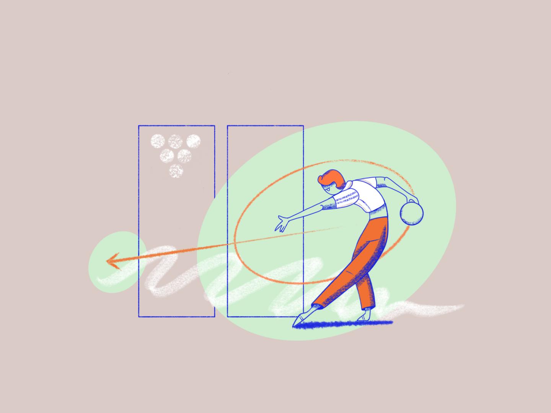 Bowling, anyone? procreate texture bowling sports abstract illustration minimal