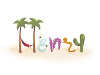 What's in a Name p.1 illustration procreate texture california summer nature illustration lettering fun lettering art